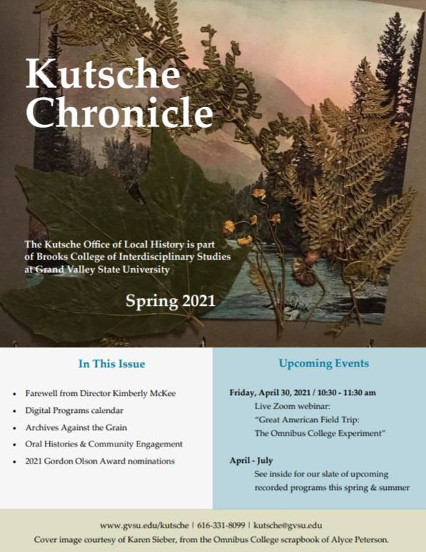 Spring 2021 Kutsche Chronicle cover